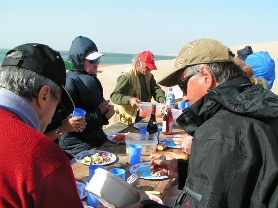 La Courbine d'Argent: repas sur les dune en janvier