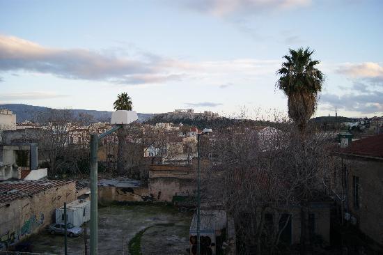 Eridanus Hotel: La fameuse vue sur l'acropole... mais on ne voit pas que ça hélas !