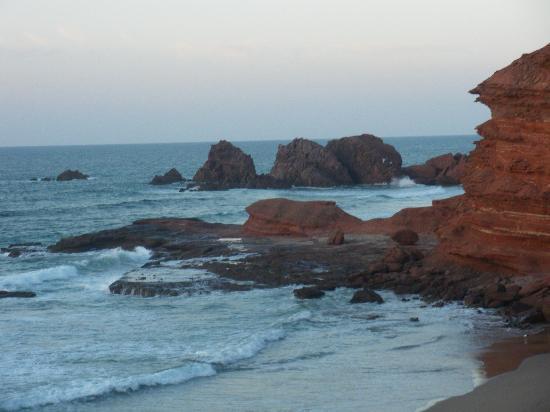 Legzira Beach: Rocce arenariche