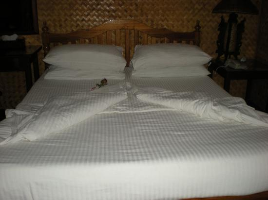 Puerto Pension: our room after Underground River tour