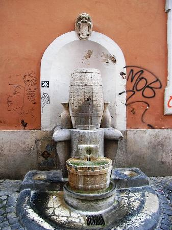 Rome Quiet Home: Nearby Cistern fountain with Roman grafitti