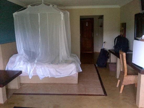 Royal Solwezi Hotel: Irritating Mosquito Netting Over Bed