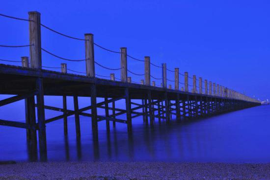 Tropicana Azure Club : Beach jetty at dusk