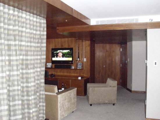 Fairmont Pacific Rim: view towards living area of room