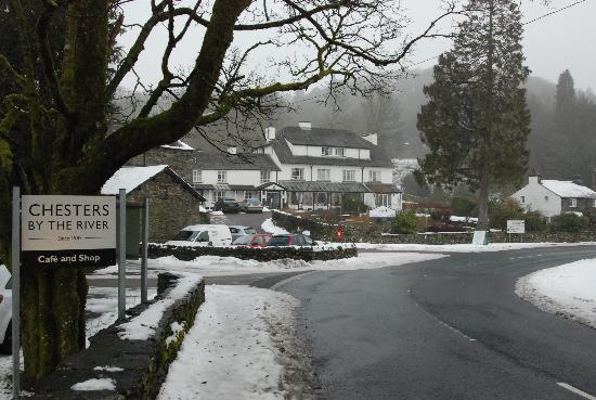Skelwith Bridge Hotel: View from the road