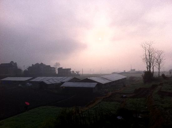 Homestay Nepal: View of dawn from the room