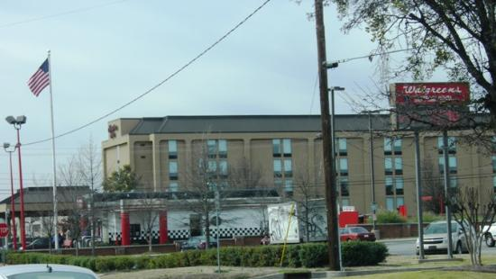 Hampton Inn Athens from a distance