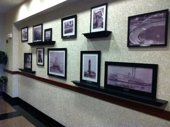Drury Inn & Suites Baton Rouge: history wall in lobby
