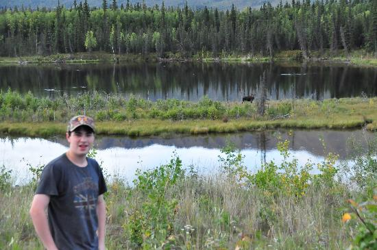 Angel Creek Lodge: my son posed with a local