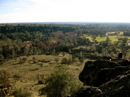 Parque Bidwell: View of Chico from Gorilla Face
