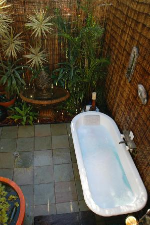 Burns at Byron : outdoor bath and shower