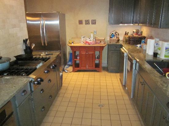 Little Red Ski Haus: Half of the kitchen