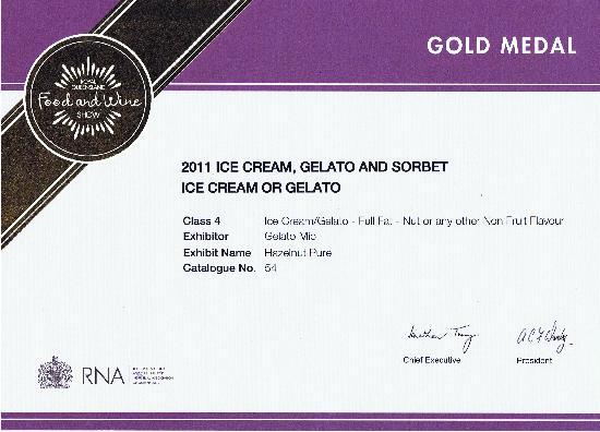 Gelato Mio: 2011 Gold Award Winner