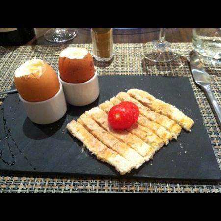Le Jardin De Camille Et Quentin : œufs à la coque et mouillettes au foie gras