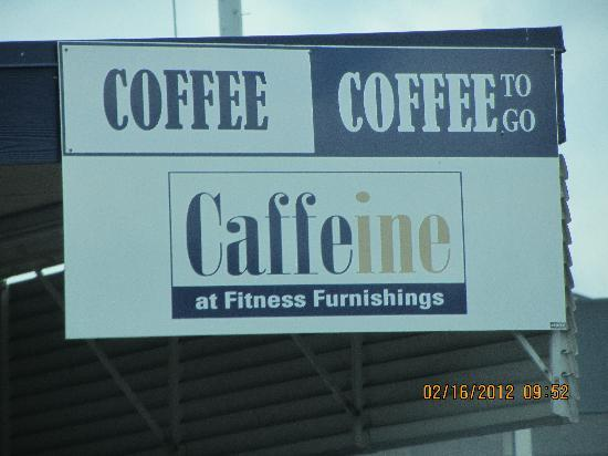 Morrinsville, New Zealand: Caffiene at Fitness Furnishings