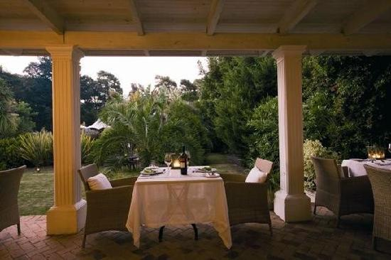 Villa Exner: Candle light gourmet dinners are enjoyed on the verandah