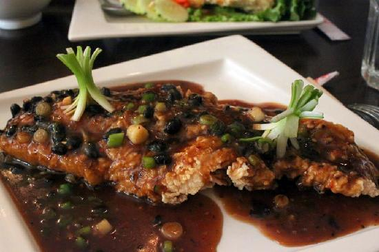Saigon Kitchen: ginger and blackbean flounder