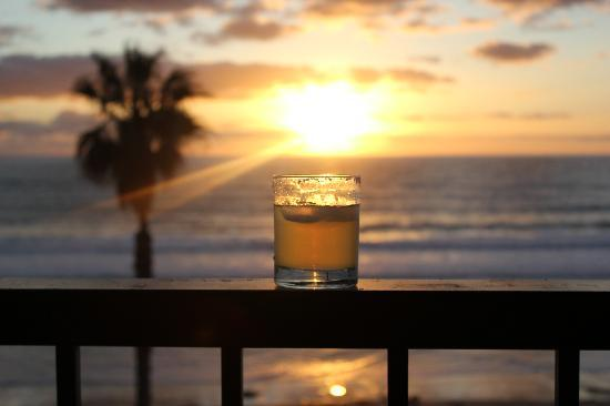 Capri by the Sea by All Seasons Resort Lodging: Enjoying an adult beverage after a long day of being on our feet