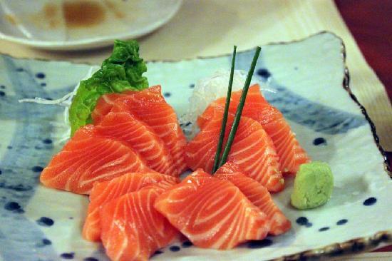 Fujiwara: salmon sashimi