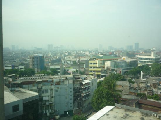 Travellers Hotel Jakarta: view from my room window
