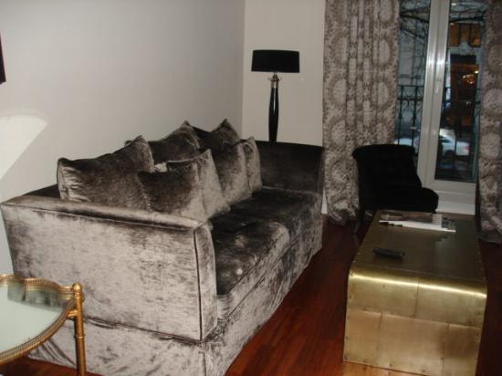 Luxury Suites: salon + écran plat splendom madrid