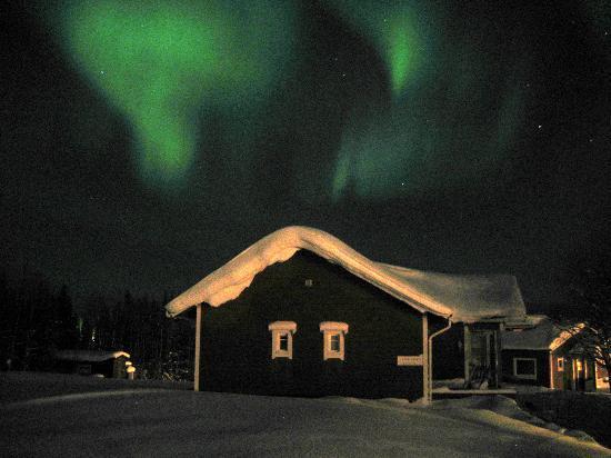 Hotel YllasHumina : aurore boréale vue chambre supérieure