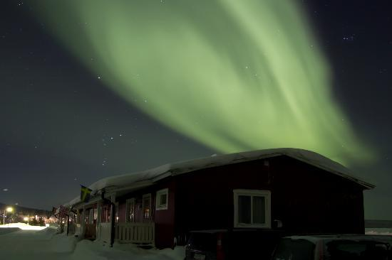 Porjus, Sweden: Northern Lights above the apartments 15/02/12