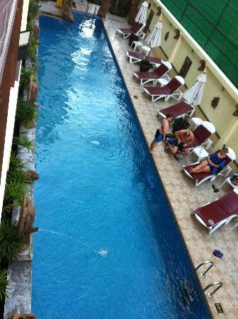 Poppa Palace Hotel Phuket: the pool view from our duplex room