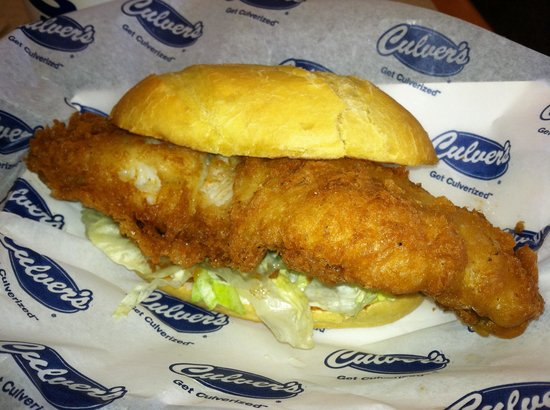 Culver 39 s walleye best fish sandwich in the fast food for Fish fast food near me