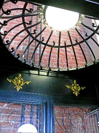 The Victor Hotel: Inside the old birdcage elevator