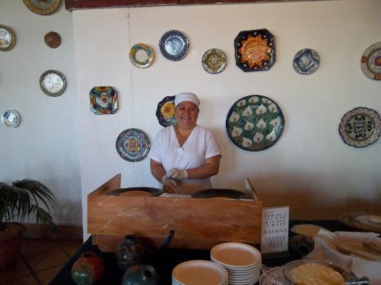 Hacienda Guachipelin : tortillas fait sur place