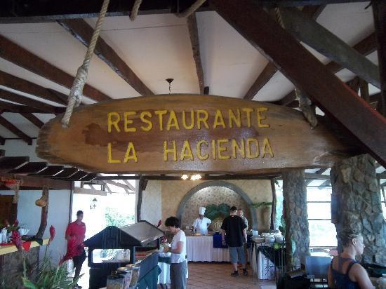 Hacienda Guachipelin : nom du restaurant