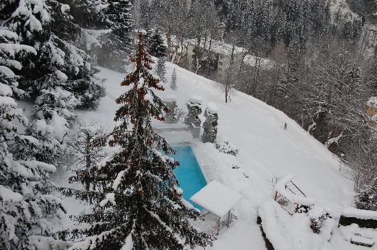 Hotel Alpenblick: pool!