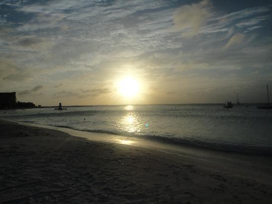 Hotel Riu Palace Aruba: espectacular puesta de sol