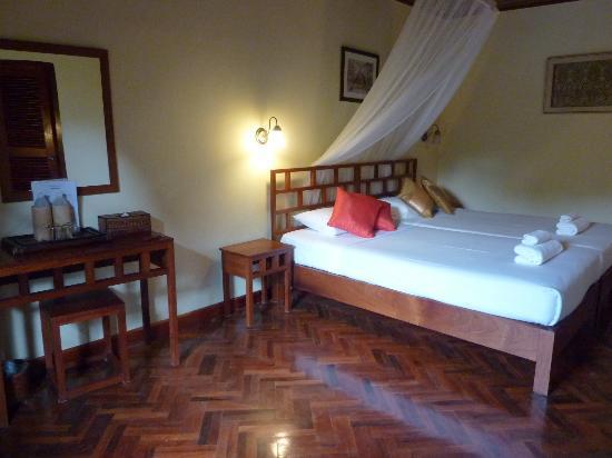 Villa Nam Song Vang Vieng: Ma chambre vue sur le jardin