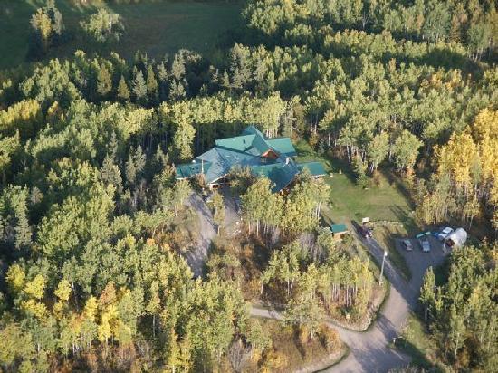 Logpile Lodge: birds eye view