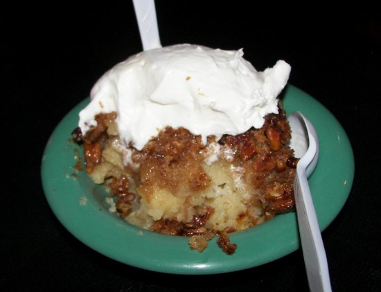 Blue Note Grill: Bread pudding with pecan topping