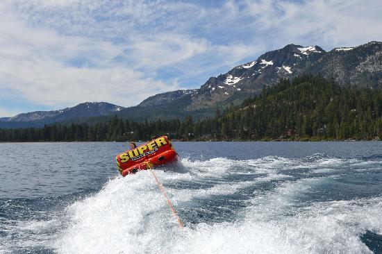 tubing on lake tahoe picture of lake tahoe boat rides south lake rh tripadvisor com my