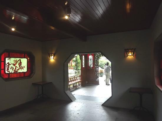 Chinese Garden of Friendship: Pagoda inside