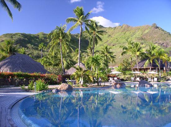 Hilton moorea pool picture of hilton moorea lagoon for Garden pool bungalow hilton moorea