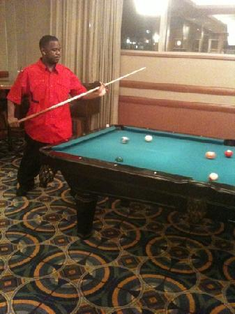 Georgia Tech Hotel and Conference Center: thad playing pool