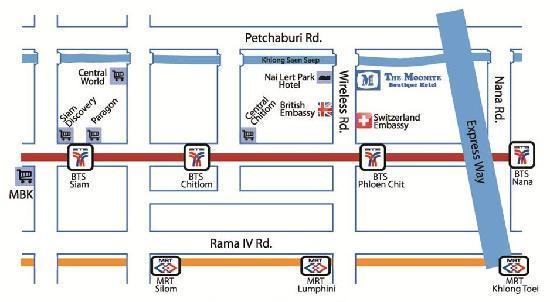 The Moonite Boutique Hotel Bangkok Thailand Reviews Photos - Us embassy bangkok map