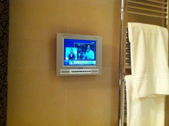 Villa dei Platani Boutique Hotel & Spa: tv LCD in bagno