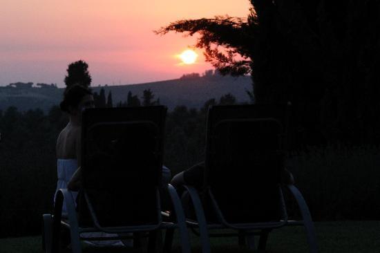 Torre di Ponzano - Chianti area - Tuscany -: Gorgeous tuscan sunset