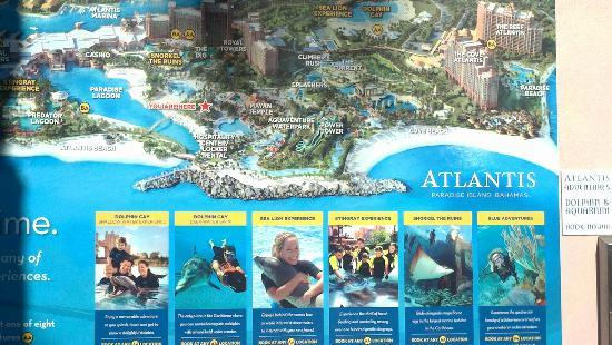 Atlantis map Picture of Aquaventure Water Park at Atlantis – Tourist Map Of Nassau Bahamas
