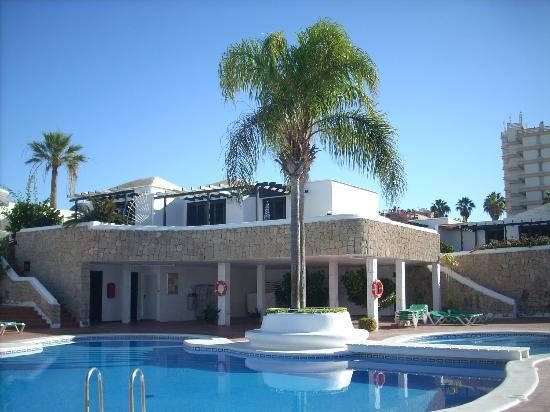 Los Cardones: Delightfully shaped pool with palm tree