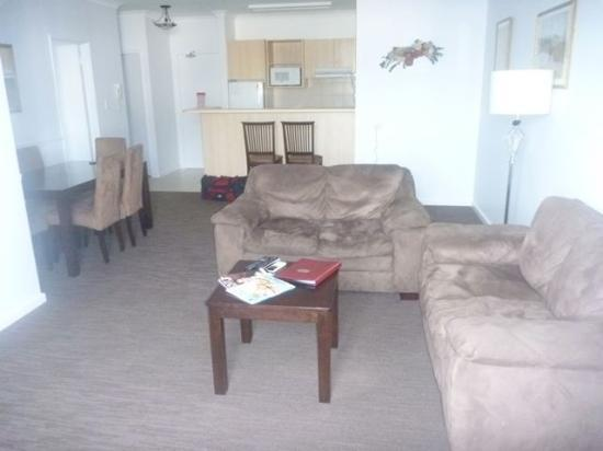 Regal Apartments: Lounge room