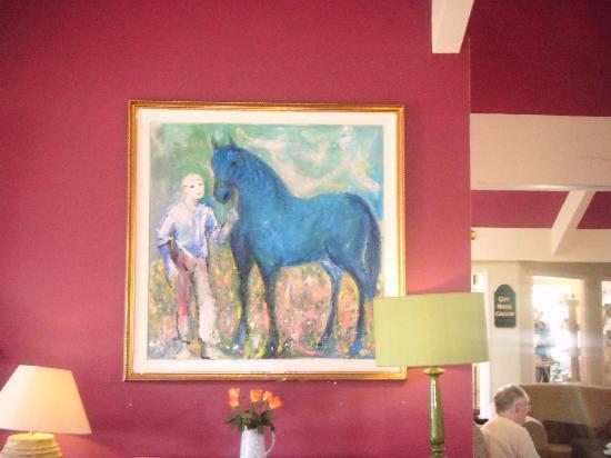 Horse & Jockey Hotel: Artwork by local artist Declan O' Connor