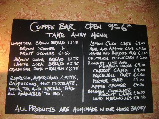 Horse & Jockey Hotel: Coffee Bar  - Takeaway Options