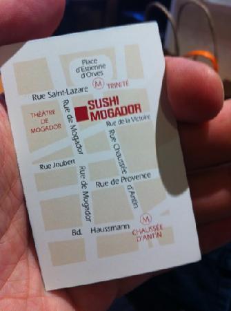 Sushi Mogador Carte De Visite Du Restaurant